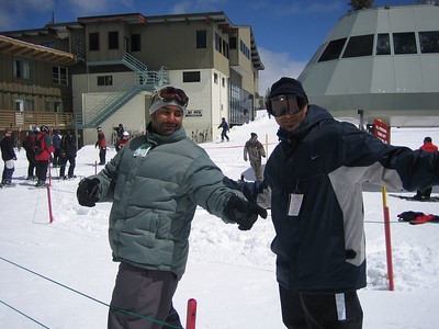 The Maloof brothers beat us too...they have been hitting the slopes on their boards all morning. Lookin good guys.