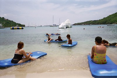 The water was fabulous we spent ½ the day floating on rafts and hanging out at the beach.