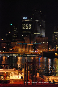"Downtown Pittsburgh skyline at night, taken during the ""Pittsburgh 250"" celebration on Oct. 4, 2008."