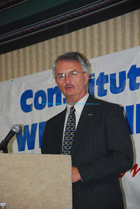 Kenny Purdue, President of the West Virginia AFL-CIO, during the 2008 Special Convention in Morgantown, WV.