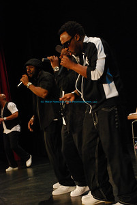 """Naturally 7"" singing group, during their performance in Bridgeport, WV, sponsored by the Bridgeport Arts Council."