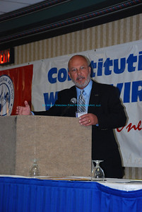 Larry Metheny, Secretary-Treasurer of the West Virginia AFL-CIO, during the 2008 Special Convention in Morgantown, WV.