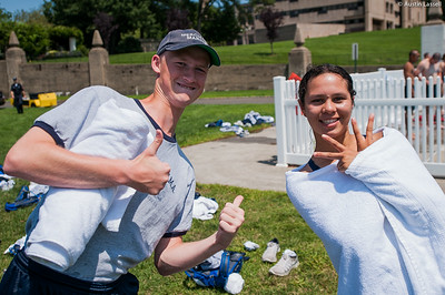 Candidates pose for a photo in between events during the end of Indoctrination Waterfront Games on July 20th, 2014.