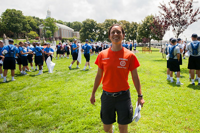 Regimental Waterfront Officer, RWO, Alysia Johnson poses for a photo leading up to the end of indoctrination Waterfront Games on July 20th, 2014.