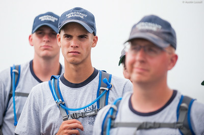 USMMA 2nd Company candidates listen intently as Captain Jonathan Kabak speaks following a simulated man overboard drill during an underway class on the Training Vessel Liberator on July 14th, 2014.
