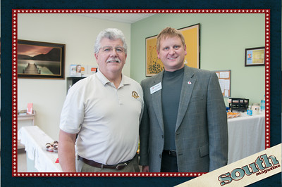 Mayor Michael Lamb and Jaques Beauchamp