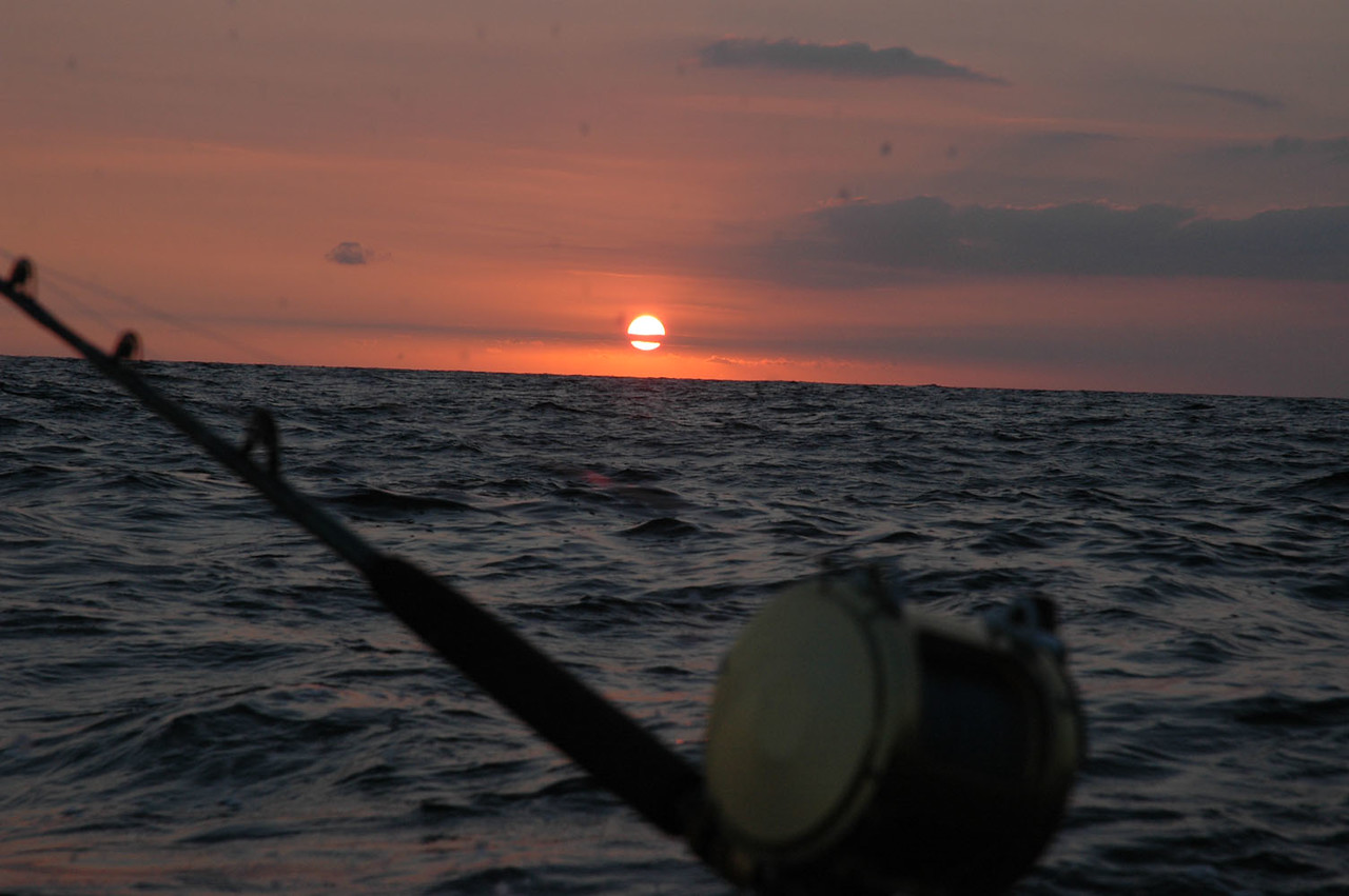 August 26th started with a beautiful sunrise and ended with some great fishing. The two biggest Tuna were 180 lbs each and measured 68 inches and 63 inches.<br /> <br /> For information on chartering with Captain Bill on the Boss Lady, you can reach him at bosslady50@comcast.net or call him at 609-425-3131