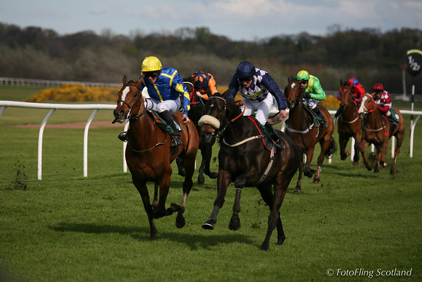 On course at Musselburgh Races