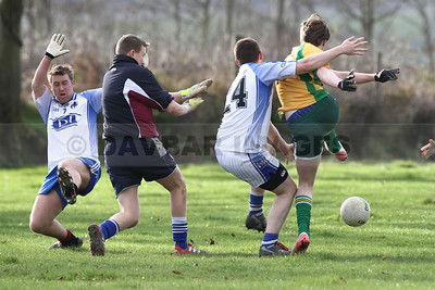 Kilbride v Dunlavin in the West Wicklow Winter League at Lacken