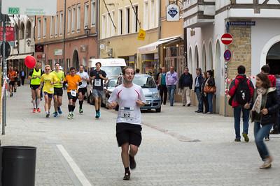 3.44-Group in the historic center of Regensburg.