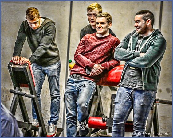 Spectators in Jeans