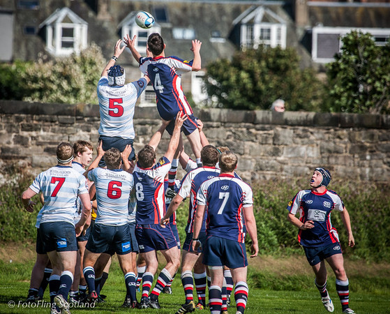 Stretch ! Edinburgh Accies 2nd XV  v Selkirk