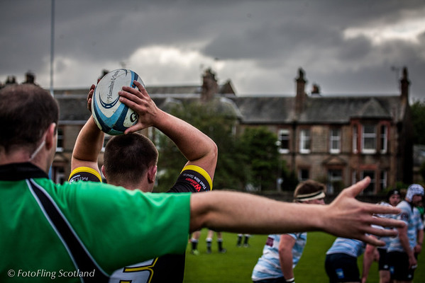 The Throw Edinburgh Accies v Melrose 2012
