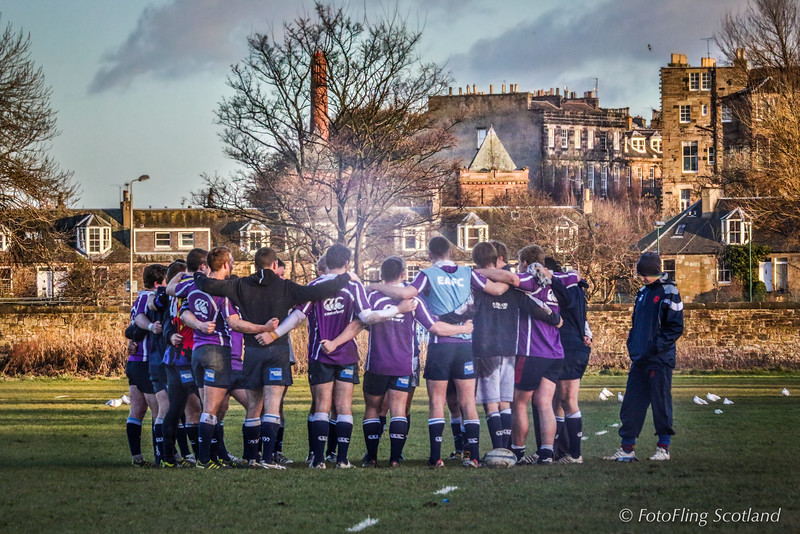 Rugby on a winter's day