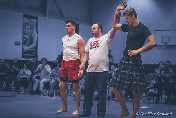 Angus Backhold Wrestling Championships 2014 - Champion Ryan Dolan (Runner up, Jack Hale from Rothbury Wrestling Club)