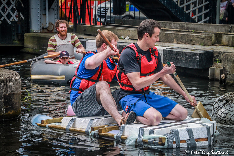 Raft Race at Canal Festival, Edinburgh Quay