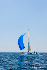 Port Geographe, Australia - Feb 22, 2012: Yatchs compete on calm seas in the annual Port Geographe Yatch Club Regatta.