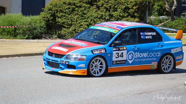 Perth, Australia - Oct 25, 2020:  The street stage of the Targa West 2020 Rally was held in the industrial suburb of Malaga and had a good field of competitors and was enjoyed by many spectators on a bright clear sunny day.