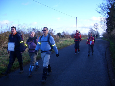 Iain, Georgie and Ibs were our partner team. They walked faster.