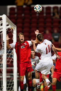 Will Vitalis (no. 10) of the men's soccer team playing in a regular season game for the University of Louisville VS Ohio State on 9-30-14 in Louisville, Kentucky at Lynn Stadium.
