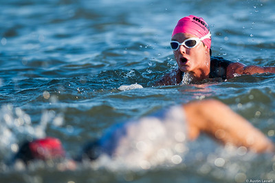 Ironman Louisville 2016 contestant no. 3099, Christina Norris, competing in the swimming portion of the race. Christina is a 61 year old from Kentucky who placed third in both swimming and running and second in cycling within the 60-64 division. The Ironman Louisville 2016 took place on 10-9-16 and is the 10th anniversary of the race occuring yearly in Louisville, Kentucky.