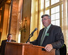 Dave Knapp gives the opening remarks for the LaFayette High School Sports Hall of Fame Induction Ceremony held in the Grand Ballroom of the Marriott Syracuse Downtown on Sunday, October 23, 2016.