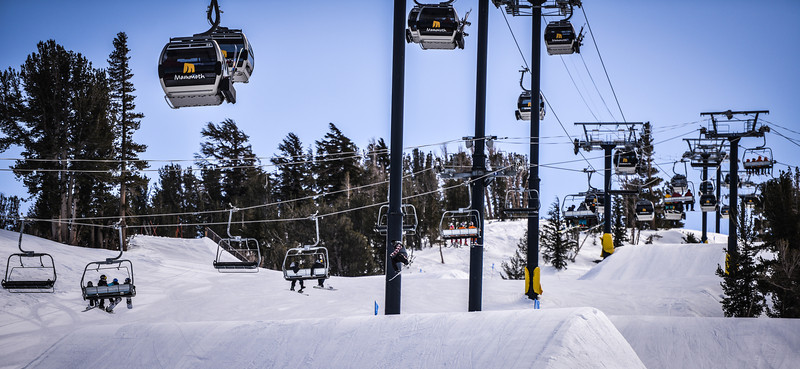 Forest of lifts Main Snowpark Mammoth Mountain