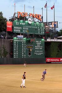Scoreboard Portland Beavers vs Sacramento River Cats