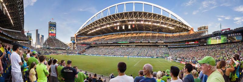 Seattle Sounder Vs. LA Galaxy on 8/5/12 at CenturyLink Field in Seattle, WA.