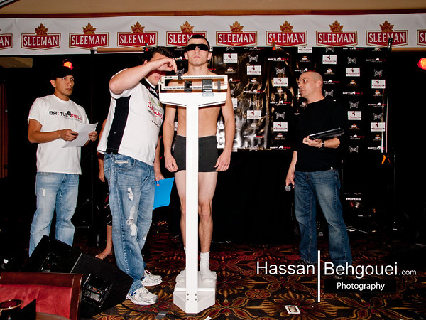 "<a href=""http://www.HassanBehgoueiPhotography.com"">http://www.HassanBehgoueiPhotography.com</a><br /> <br /> Main Event<br /> <br /> Sean Zubor (3-1) vs. Jacen Brooks (3-0)<br /> <br /> For Battlefield Welterweight Championship<br /> <br /> Result: Brooks def. Zubor by Submission (Triangle), Rd. 1 [2:06]<br /> <br /> Co-Main Event:<br /> <br /> 190lbs.: Justin Lansing (1-0) vs. Hunter Orgill (2-0)<br /> <br /> Result: Lansing def. Orgill by Submission (RNC), Rd. 1 [1:03]<br /> <br /> Award: Submission Of The Night<br /> <br /> Chris Day (6-2) vs. Tristan Storrs (5-1)<br /> <br /> Result: Storrs def. Day by Referee Stoppage (Arm Injury), Rd. 2 [0:25]<br /> <br /> Cam Deleurme (4-1) vs. Jeremy Kennedy (2-0)<br /> <br /> Result: Deleurme def. Kennedy by Split-Decision<br /> <br /> Ash Mashreghi (0-0) vs. Jonathan Dubois (3-3)<br /> <br /> Result: Mashreghi def. Dubois by Submission (Armbar), Rd. 1 [1:25]<br /> <br /> Bryce Gougeon (3-0) vs. Ryan Christopher (0-0)<br /> <br /> Result: ruled no-contest in the 2nd round.<br /> <br /> Achilles Estremadura (1-0) vs. James Lepage (0-1)<br /> <br /> Result: Estremadura def. Lepage by TKO (Unanswered Strikes), Rd. 1 [1:08]<br /> <br /> Jeremy Peever (0-1) vs. Hanz Pangilinan (1-0)<br /> <br /> Result: Pangilinan def. Peever by Unanimous Decision<br /> <br /> Dave Ferguson (2-0) vs. Jer Kernelson (0-1)<br /> <br /> Result: Kernelson def. Ferguson by Submission (RNC), Rd. 2 [2:25]<br /> <br /> Claud Beauchamp (0-0) vs. Ricki Peers (0-0)<br /> <br /> Result: Peers def Beauchamp by TKO [Suplex], Rd. 1 [0:40]<br /> <br /> Tristan King (2-1) vs. Jose Rodriguez (3-0)<br /> <br /> Result: King def. Rodriguez by KO (Punch), Rd. 1 [0:07]<br /> <br /> Morgan Bently (0-0) vs. Anthony Mule (0-0)<br /> <br /> Bentley def. Mule by TKO (Shots From Mount), Rd. 3 [1:47]<br /> <br /> Morgan Littlechild (Independent) vs. Jordan Manning (0-0)<br /> <br /> Result: Manning def. Littlechild by TKO (Strikes), Rd. 2 [0:50]"