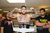 "<a href=""http://www.HassanBehgoueiPhotography.com"">http://www.HassanBehgoueiPhotography.com</a><br /> <br /> <br /> Total Mayhem (5_9_13) Weigh Ins at Super 8 Hotel 725 SE Marine Dr Vancouver, BC V5X 2T9<br /> <br /> <br /> Gionco International <a href=""http://www.gerrygionco.com"">http://www.gerrygionco.com</a><br /> <br /> <br /> Blue Corner		    Red Corner <br />                    LBS                         LBS<br /> 1.Tyler Lepper     --    vs  Daniel Richard   (144)<br /> 2.---------------        vs  John Worth       (143)  <br /> 3.Dexter Widaiko  (133)  vs  Luke Kim         (132)<br /> 4.Jesse Fairburn  (154)  vs  Tom Proppe       (155)<br /> 5.K J Ryder       (136)  vs  Chris Bach       (135)<br /> 6.Navid Mirzaei   (160)  vs  Paul Kru         (157)<br /> 7.Andrew Davis    (181)  vs  Justyn Rackstraw (175)<br /> 8.Rob Reid        (155)  vs  Andy Padda       (155)<br /> 9.Owen Holmes     (177)  vs  Tom Austen       (178)<br /> 10.David Correa    --    vs  Aaron Downey     (203)<br /> 11.jared Miyamato (130)  vs  Oliver Evansher  (134)<br /> 12.Gustavo Bessa   --    vs Cam Deleurme      (144)<br /> <br /> <br /> Fight night at : Fraser View Hall 8240 Fraser St Vancouver, BC V5X 3X6 (604) 322-6526<br /> <br /> <br /> Rules at : 5:30PM Super 8 Hotel<br /> <br /> Door Open at 6:00PM Fraser View Hall<br /> <br /> Exhibition at 7:00PM<br /> <br /> Fights at 8:00Pm"