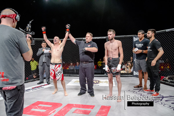 "<a href=""http://www.HassanBehgoueiPhotography.com"">http://www.HassanBehgoueiPhotography.com</a><br /> <br /> Mainevent <br /> Ryan Janes defeats Brendan Kornberger at 46 seconds of the fourth round by tapout due to RNC<br /> Co-Main<br /> Dejan Kajic defeats David Perron by split decision<br /> Main Card<br /> Gary Mangat defeats Damen Wood by unanimous decision<br /> Tristan Connelly defeats Shawn Albrecht at 4:21 of the first round by TKO<br /> Curtis Harriott defeats Ryan Ballingall at 3:53 of the first by verbal tapout due to armbar<br /> Undercard<br /> Liam Stevenson defeats Ryan Leask at 1:58 of the third by tapout due to a 'calf slicer'<br /> Travis Lussier defeats James Foster by unanimous decision<br /> Colm considine defeats Scott Pipping at 1:28 of the first round by tapout due to armbar<br /> Mitch Burke defeats Paul Welters by unanimous decision<br /> Darcy Giles defeats Kody Smith at 2:13 of the first by ref stoppage due to a spinning liver kick<br /> Daniel Lovestead defeats Josh Wilton at 19 seconds of the first round by tapout due to an armbar<br /> Levi Baptiste defeats Cody Filion at 2:11 of the third by ref stoppage due to RNC"