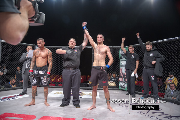 "<a href=""http://www.HassanBehgoueiPhotography.com"">http://www.HassanBehgoueiPhotography.com</a><br /> <br /> Curtis Harriott defeats Dejan Kajic at 1:26 of the first round by verbal submission due to injury<br /> <br /> Co-Mainevent<br /> Arjan Bhullar defeats Blake Nash at the end of the second by doctor stoppage<br /> <br /> Maincard<br /> Mario Pereira defeats Tristan Connelly by unanimous decision<br /> David Moon defeats Chris Day by unanimous decision<br /> Chris Anderson defeats Stu Delerume at 4:03 of the first round by ref stoppage – TKO<br /> Robin Laybourn defeats Josh Morgan at 2:34 of the first by tapout due to RNC<br /> <br /> Undercard<br /> Taylor Christopher defeats Alex Bains by split decision<br /> Scott Pipping defeats Keith Robinson at 2:56 of the second by ref stoppage due to an armbar<br /> Paul Kane defeats David Cunnigham at 2:32 of the second by tapout due to a Triangle choke<br /> Billy Morrison defeats Bryan Tu at 17 seconds of the first round by KO<br /> Navid Mirzaei defeats Mathe Levente at 1:35 of the 3rd round by tapout due to head & arm choke<br /> Casey O'leary defeats Daniel David by unanimous decision"