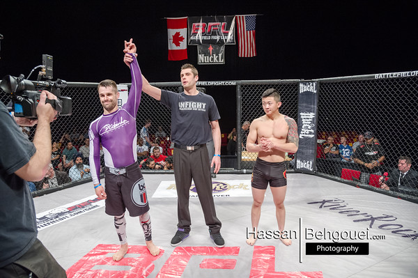 """<a href=""""http://www.HassanBehgoueiPhotography.com"""">http://www.HassanBehgoueiPhotography.com</a><br /> <br /> Mainevent<br /> Jeremy Kennedy defeats Drew Brokenshire by unanimous decision<br /> Co-Mainevent<br /> Mike Jasper defeats Brendan Kornberger at 1:13 of the third by TKO due to ref stoppage<br /> Maincard<br /> Mazdak Porboloul defeats Kenny Pope by split decision<br /> David Perron defeats Chris Anderson – Score: 6:0<br /> Undercard<br /> Matt Kwan defeats Kabir Bath – Score: 11-0<br /> Daniel David defeats Matthew McCartie by split decision<br /> Clint Cooper defeats Dion Wu – Score: 8-0"""