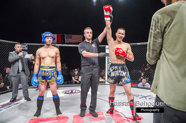 "<a href=""http://www.HassanBehgoueiPhotography.com"">http://www.HassanBehgoueiPhotography.com</a><br /> <br /> MAIN CARD<br /> <br /> Arjan Bhullar def. Ryan Pokryfky via Unanimous Decision (50-45, 50-43, 50-44) – Heavyweight title<br /> Tristan Connelly def. Ash Mashreghi via TKO (Strikes) at 1:24 of Round 1<br /> Terrance Chan def. Vaz Lep via Submission (Kimura) at 3:47 of Round 3<br /> Taylor Christopher def. Josh Kwiatkowski via Split Decision (49-46, 47-48, 48-47) – Interim Lightweight Title<br /> Tylor Nicholson def. Blake Sigvaldson via Submission (Rear-Naked Choke) at 2:59 of Round 1 – Interim Featherweight Title<br /> Juan Castillo def. Paul Cowie via Unanimous Decision (29-28, 29-28, 29-28)<br /> Shawna Ram def. Stephani Murray via Submission (Armbar) at 1:13 of Round 1<br /> <br /> PRELIMINARY CARD<br /> <br /> Dalton Duperreault def. Keith Robinson via Submission (Guillotine Choke) at 0:44 of Round 1<br /> Matt Lepper def. Justin Daily via TKO (Referee Stoppage due to cut) at 2:00 of Round 1<br /> Curto Furgason def. Jakob George via Submission (Rear-Naked Choke) at 2:58 of Round 1<br /> Melissa Croden def. Liz Jackson via TKO (Punches) at 2:04 of Round 3<br /> David Korzinski def. Dan Schenk via Submission (Arm-Triangle Choke) at 1:58 of Round 2<br /> <br /> KICKBOXING<br /> <br /> Athena Stratis def. Angeles Jasso via TKO (Punches) at 1:46 of Round 2<br /> Jimmy Nguyen def. Tomas Winter via Knockout (Punches) at 0:10 of Round 1"