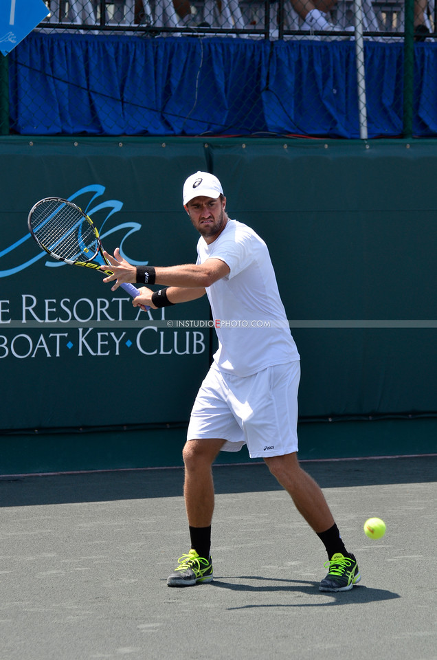 Steve Johnson (shown) & Bradley Klahn vs ilija Bozoljac & Somdev Devvarman.