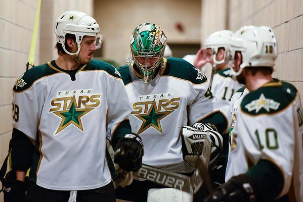 Texas Stars vs Lake Erie Monsters  - March 11, 2015. Stars win 6-4.