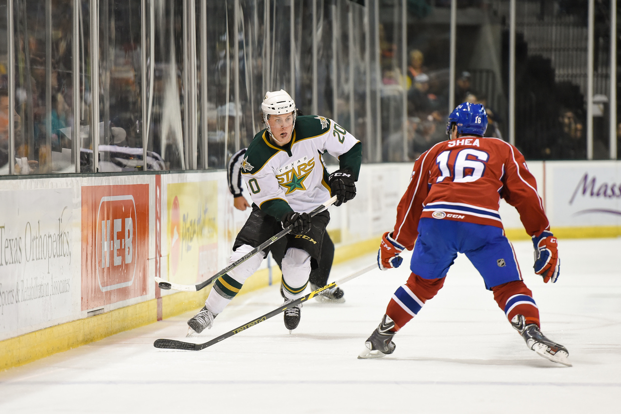 Texas Stars vs Hamilton Bulldogs - April 10, 2015. Bulldogs win 4-3.