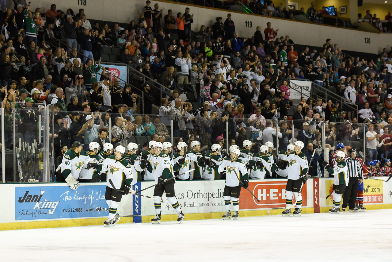 Texas Stars vs Hamilton Bulldogs - April 11, 2015. Star win 5-0 for a shutout.