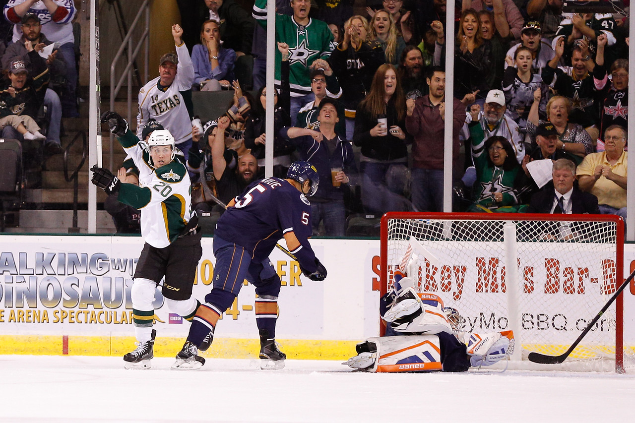Texas Stars vs Oklahoma City Barons - October 29, 2014.  Stars win in overtime 5-4.