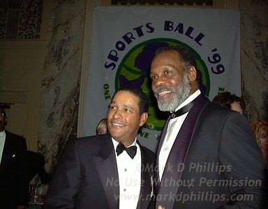 Bryant Gumbel and Danny Glover at Sportsball 1999.
