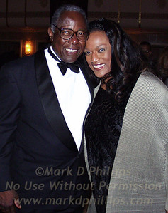 Baseball legend Hank Aaron joins opera star Jessye Norman at SportsBall 2000 in New York on April 26. The two stars were honored by the Arthur Ashe Institute for Urban Health (AAIUH) with Leadership Awards for Community Service (Aaron) and Humanitarian Service (Norman). AAIUH supports the vision of Institute founder Arthur Ashe: improved access to health care and health education for America's urban poor. Photo by StellarImages/Mark D. Phillips