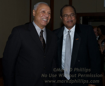 Basketball Hall of Fame member Lenny Wilkins and Paul Smith, D.Min., Sr. Minister at Sportsball 2010