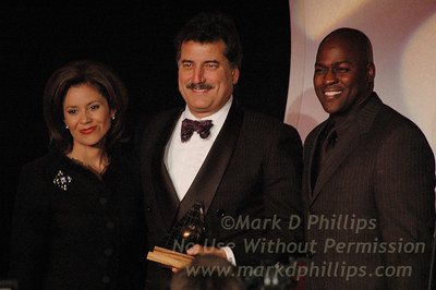 Dana Tyler, Keith Hernandez and Otis Livingston at Sportsball 2005.