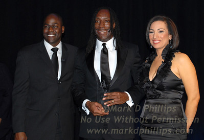 Otis Livingston, Boyd Tinsley, and Michelle Miller at Sportsball 2010