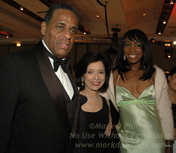 Carl McCall, his wife Dr. Joyce F. Brown, and Venus Williams at Sportsball 2005.