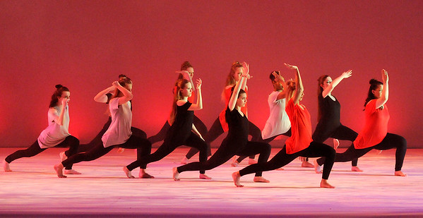 Don Knight | The Herald Bulletin<br /> Anderson University's Sprint Into Dance 12 at Reardon Auditorium on Friday. There will be another performance today at 2:30 p.m.