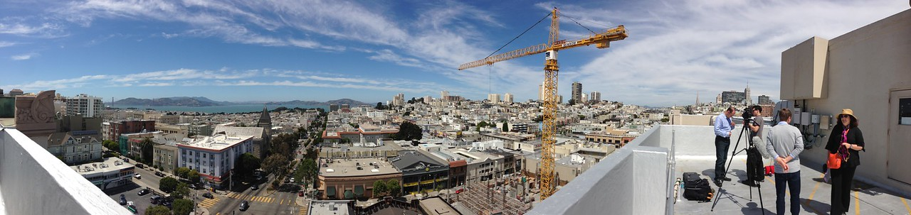 The panoramic view from the rooftop at 2000 Van Ness, home to cellphone towers for Sprint, MetroPCS and AT&T.