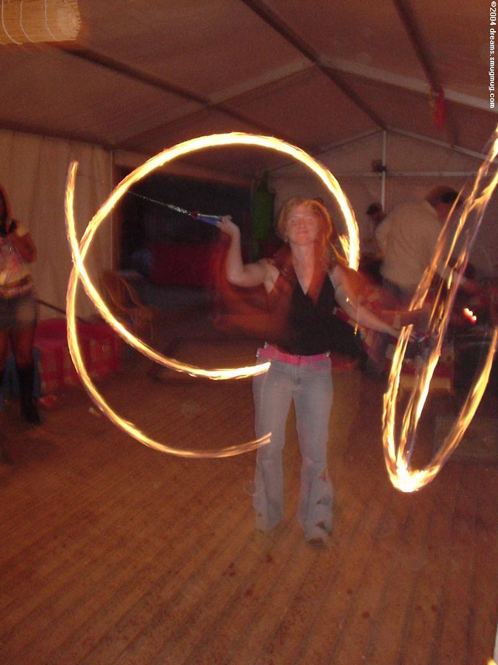Irish girl back for the real act: swirl with fire!