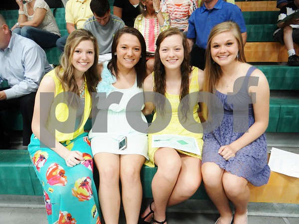 Megan Frischmeyer, Mara Forsythe, Jaci Brungardt, and Lauren Moeding.